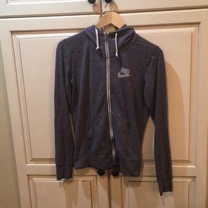 Nike tech hoodie sweatshirt fleece grey s